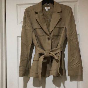 Talbots Lined Tan Jacket